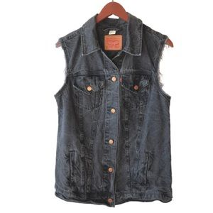 Levi's Button Down Denim Vest -M